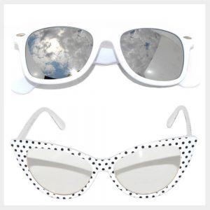 White Frame Sunglasses Wholesale