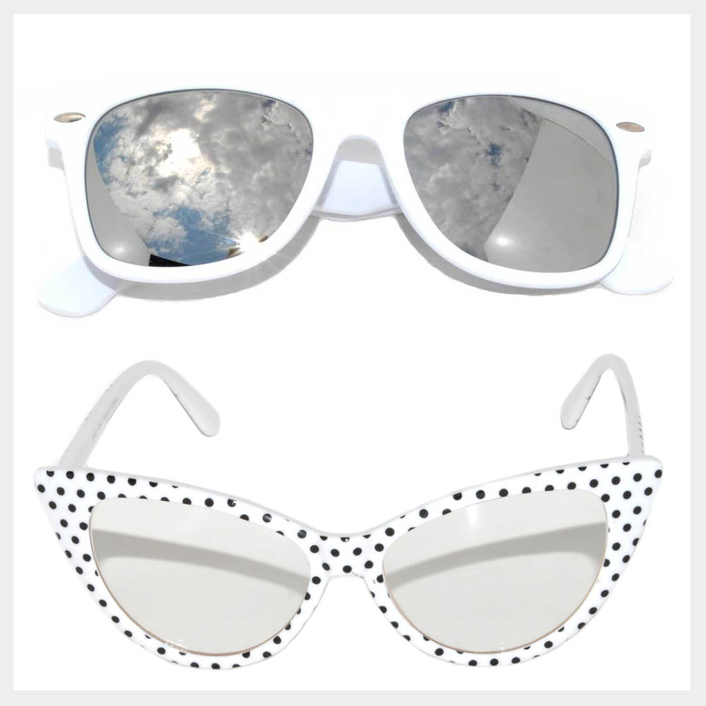 White Frame Sunglasses Wholesale