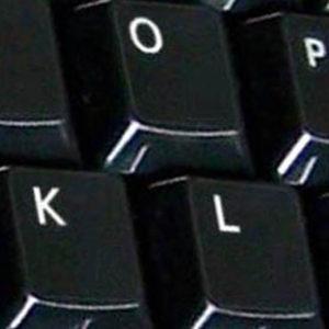 Danish key labels for keyboard black