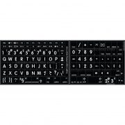 Mac English font round large letters black keyboard sticker