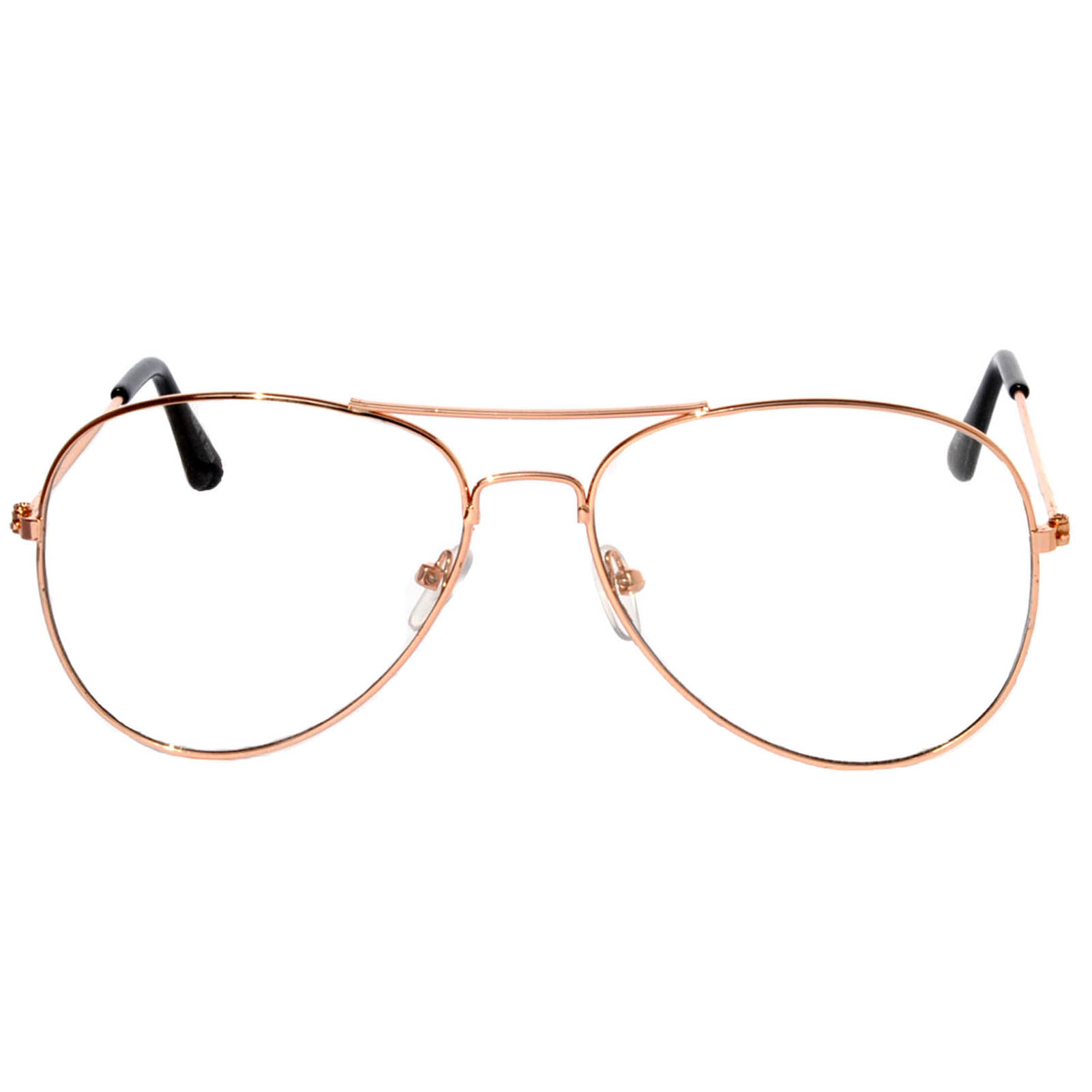 e5c79563c0f OWL ® Eyewear Sunglasses Metal Fashion Aviator Gold Frame Clear Lens ...