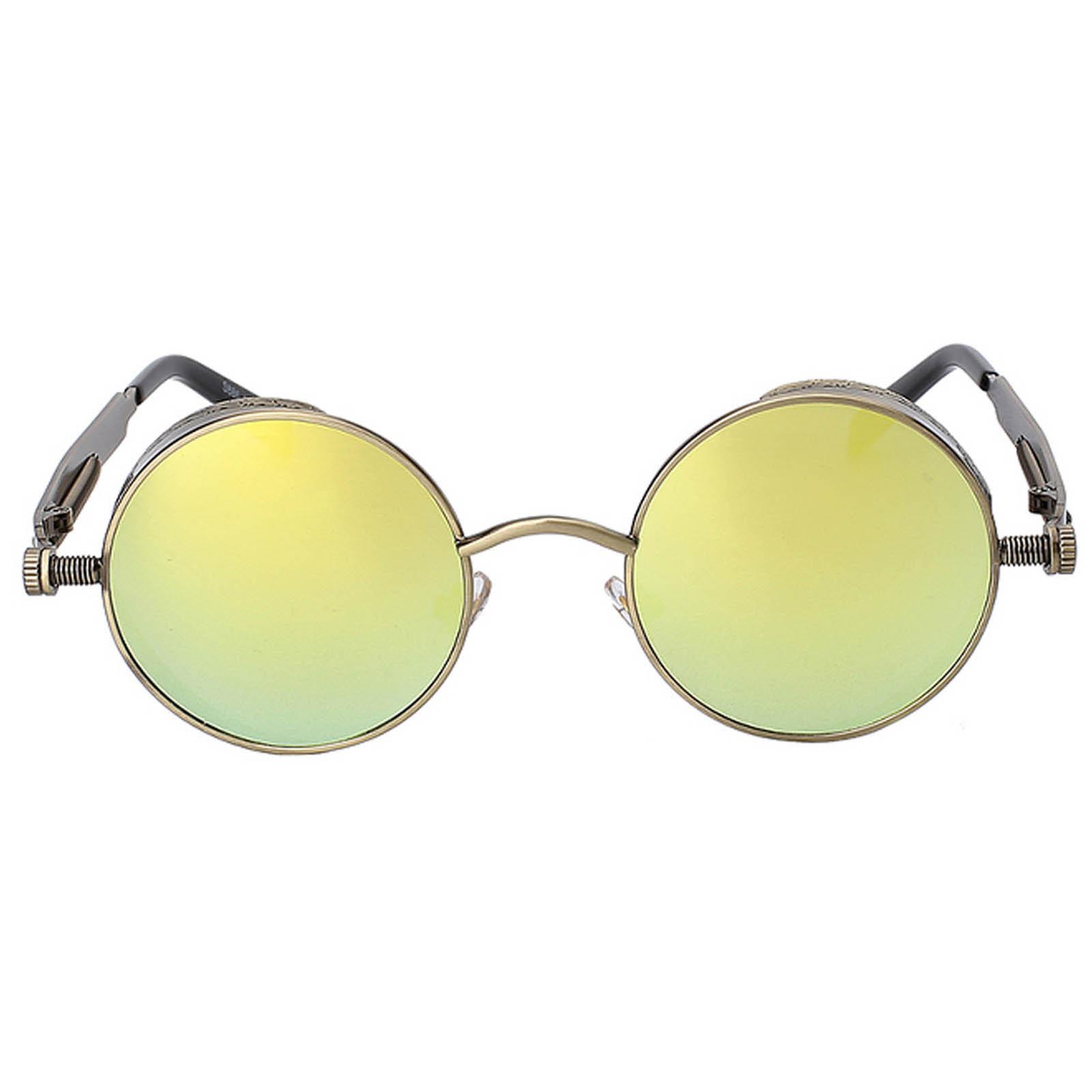 dbb848d92f2 OWL ® Steampunk C5 Gothic Eyewear Sunglasses Women s Men s Metal Round  Circle Anti Brass Frame Gold
