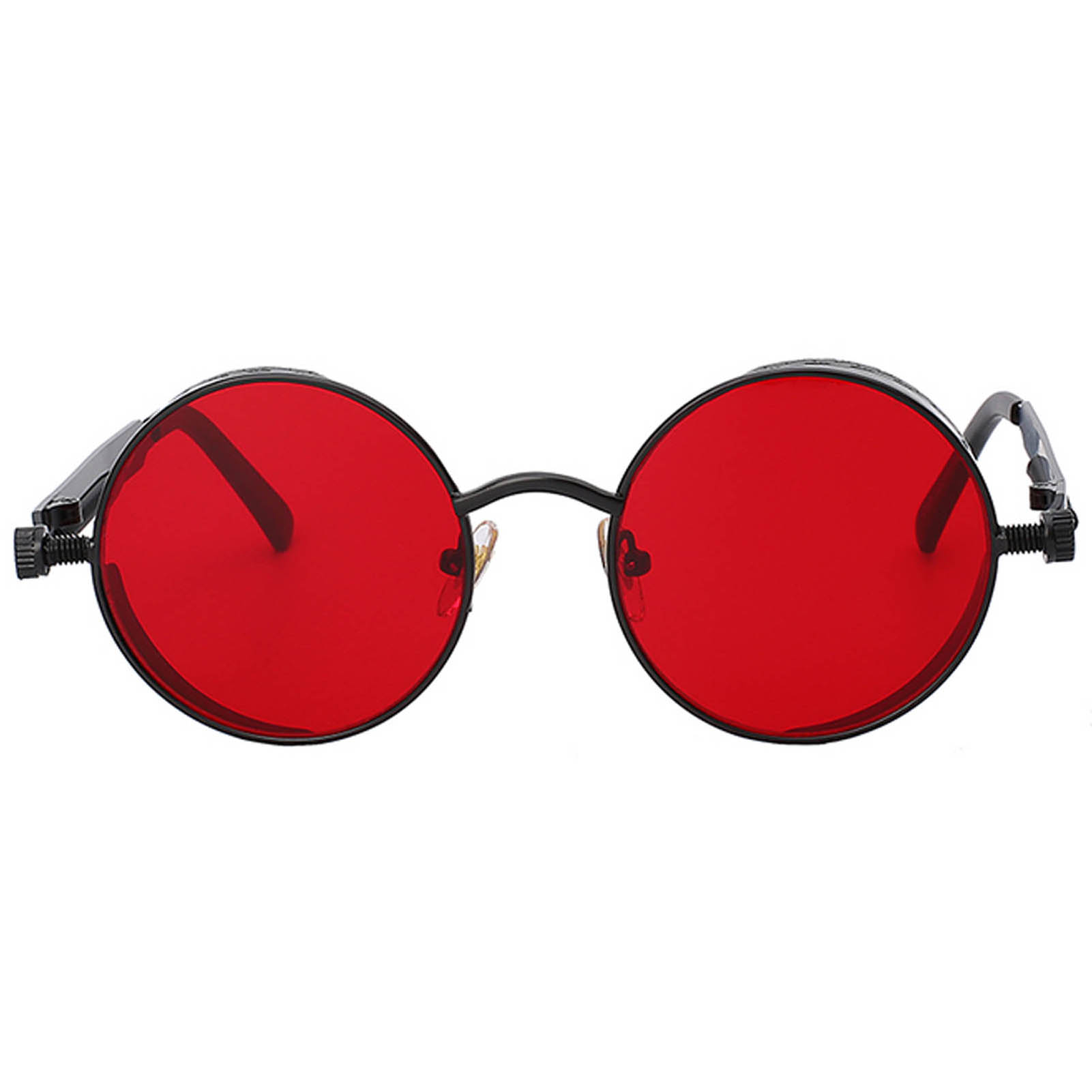 060 C9 Steampunk Gothic Sunglasses Metal Round Circle Black Frame ...