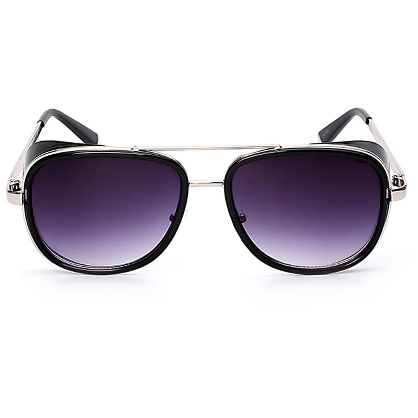 6735f067cd ... OWL ® 002 C3 Aviator Eyewear Sunglasses Women s Men s Metal Black Frame  Smoke Lens One Pair ...