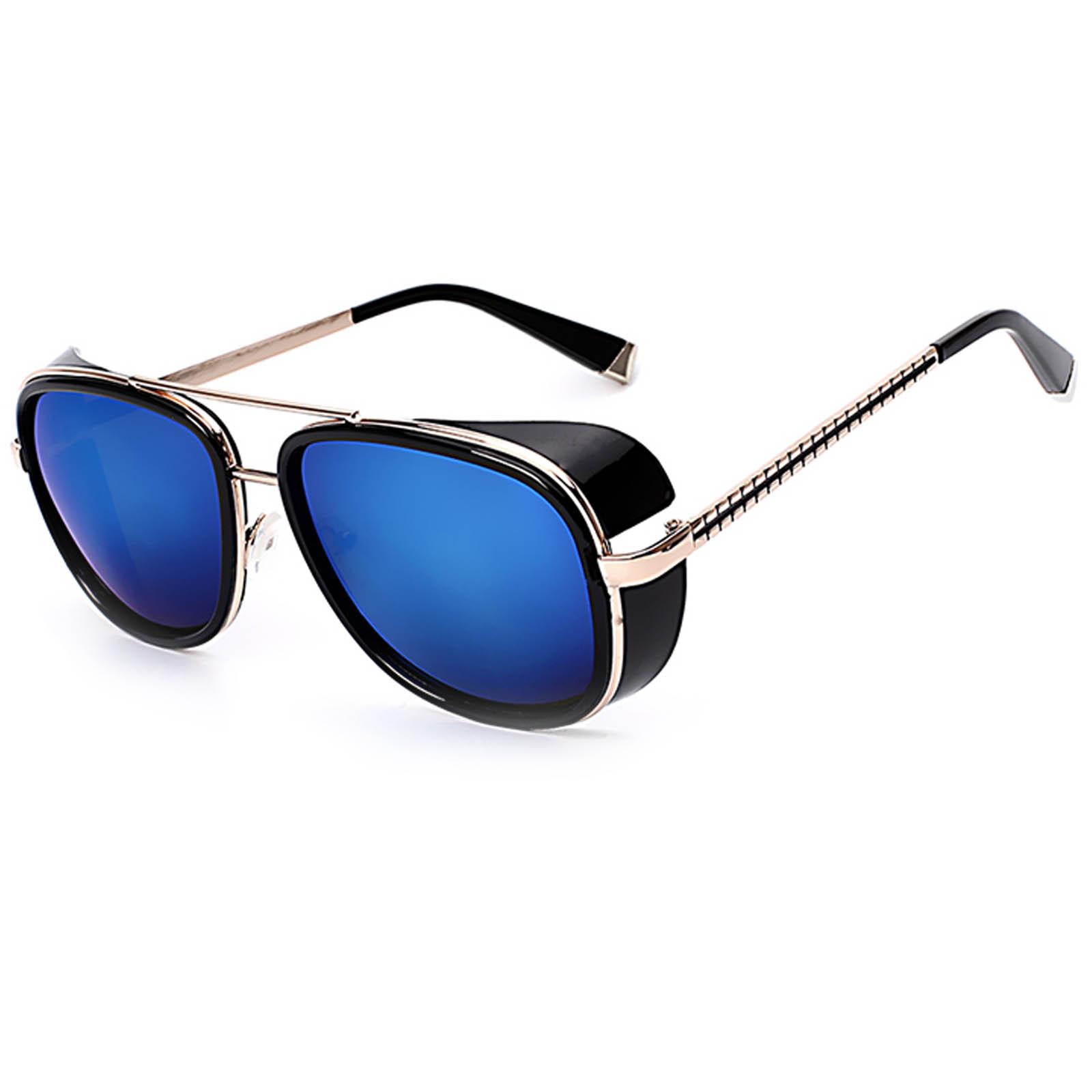 830c114389 OWL ® 002 C8 Aviator Eyewear Sunglasses Women s Men s Metal Black Frame  Blue Lens One Pair