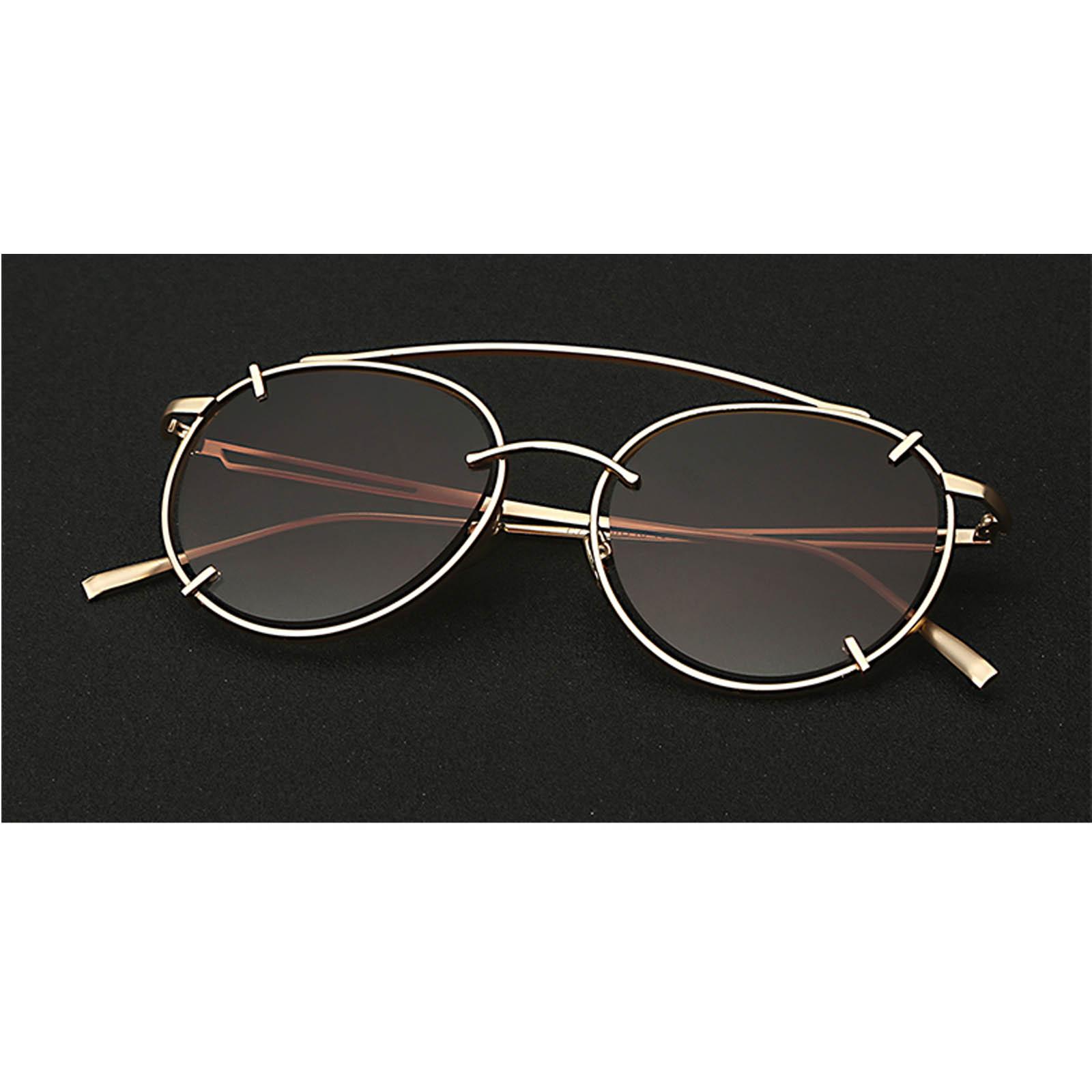OWL ® 009 C1 Eyewear Sunglasses Women\'s Men\'s Metal Round Circle ...
