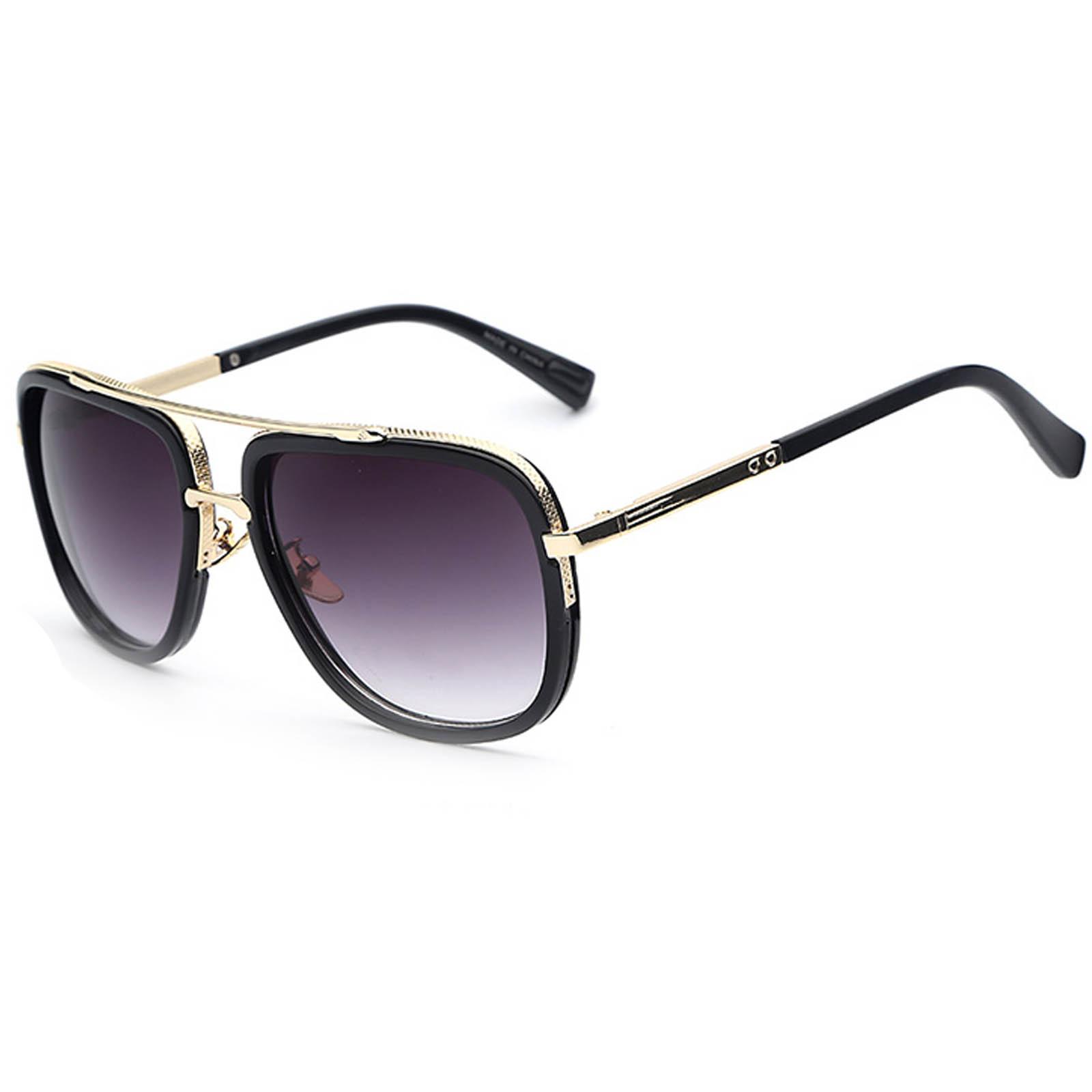 OWL ® 011 C1 Aviator Eyewear Sunglasses Women's Men's Metal Black Frame Smoke Lens One Pair