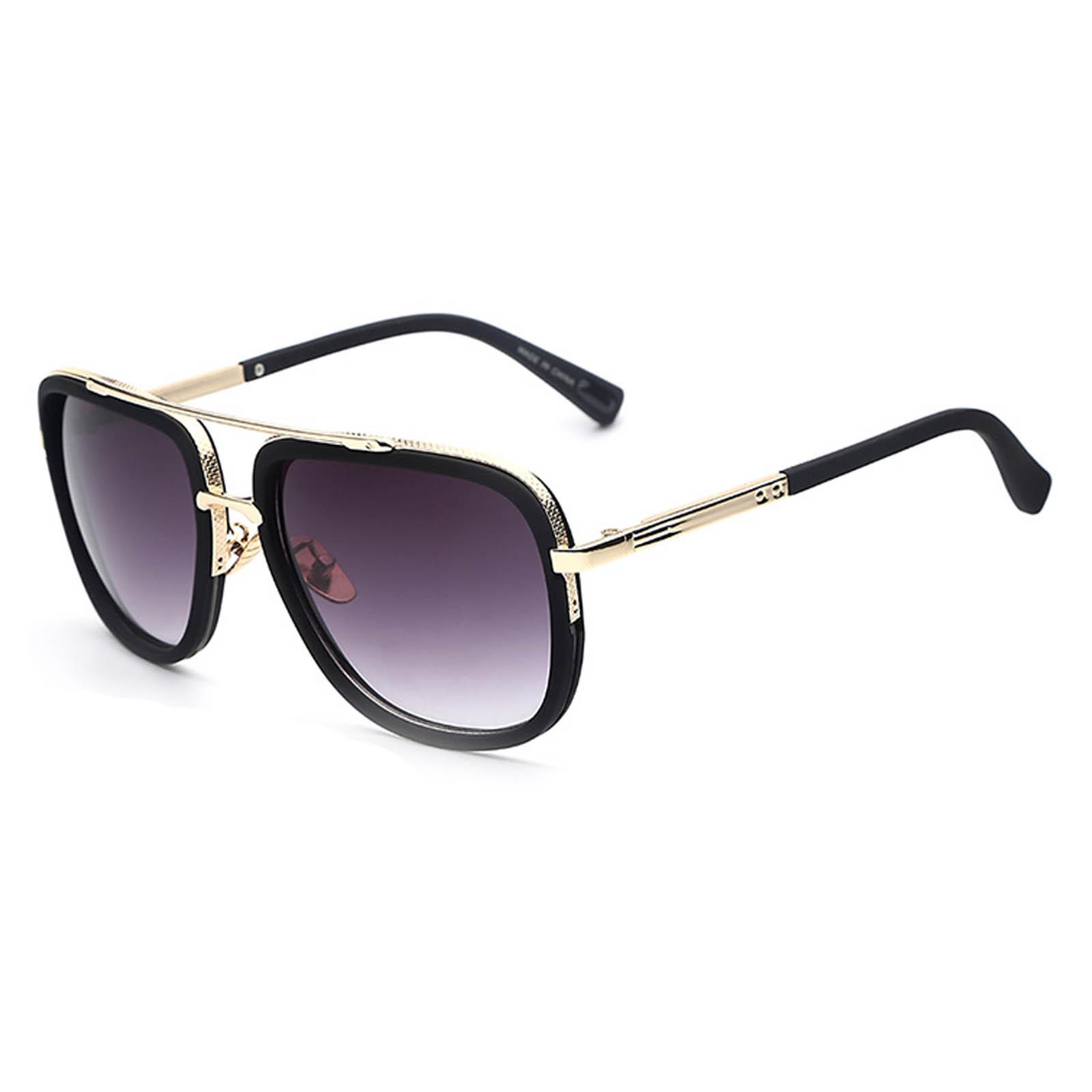 OWL ® 011 C3 Aviator Eyewear Sunglasses Women's Men's Metal Black Frame Smoke Lens One Pair