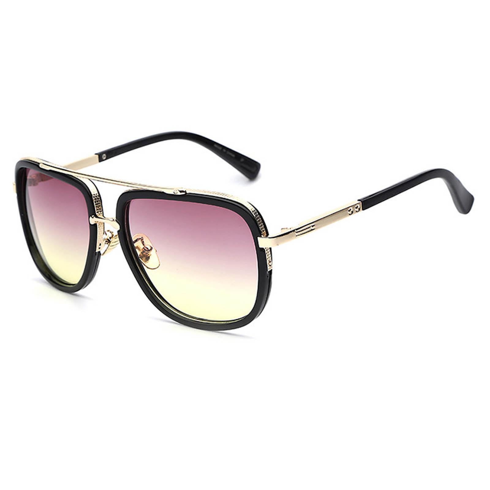 5f248c45d56 OWL ® 011 C5 Aviator Eyewear Sunglasses Women s Men s Metal Black Frame  Pink Lens One Pair