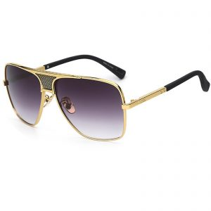 0e56461bda OWL ® 013 C2 Square Eyewear Sunglasses Women s Men s Metal Black Frame  Smoke Lens One Pair