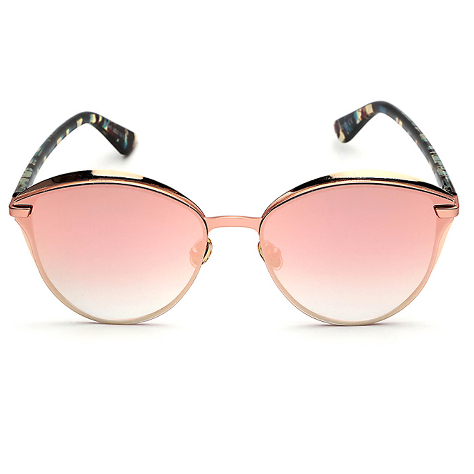 477cc5dc49 ... OWL ® 017 C4 Cat Round Eyewear Sunglasses Women s Men s Metal Round  Floral Frame Pink Lens