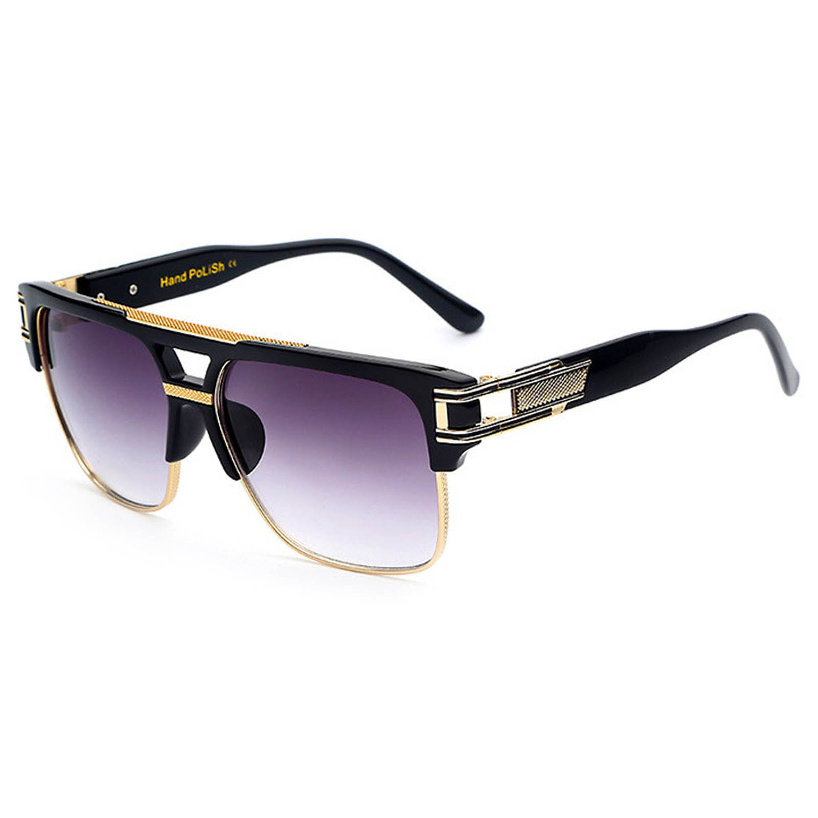 OWL ® 020 C1 Cat Rectangle Eyewear Sunglasses Women's Men's Plastic Black Frame Smoke Lens One Pair