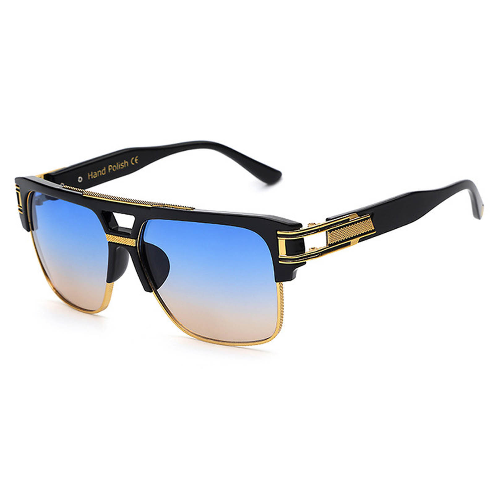 OWL ® 020 C4 Rectangle Eyewear Sunglasses Women's Men's Plastic Black Frame Colored Lens One Pair