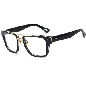 OWL ® 026 C5 Rectangle Eyewear Sunglasses Women's Men's Plastic Black Frame Clear Lens One Pair