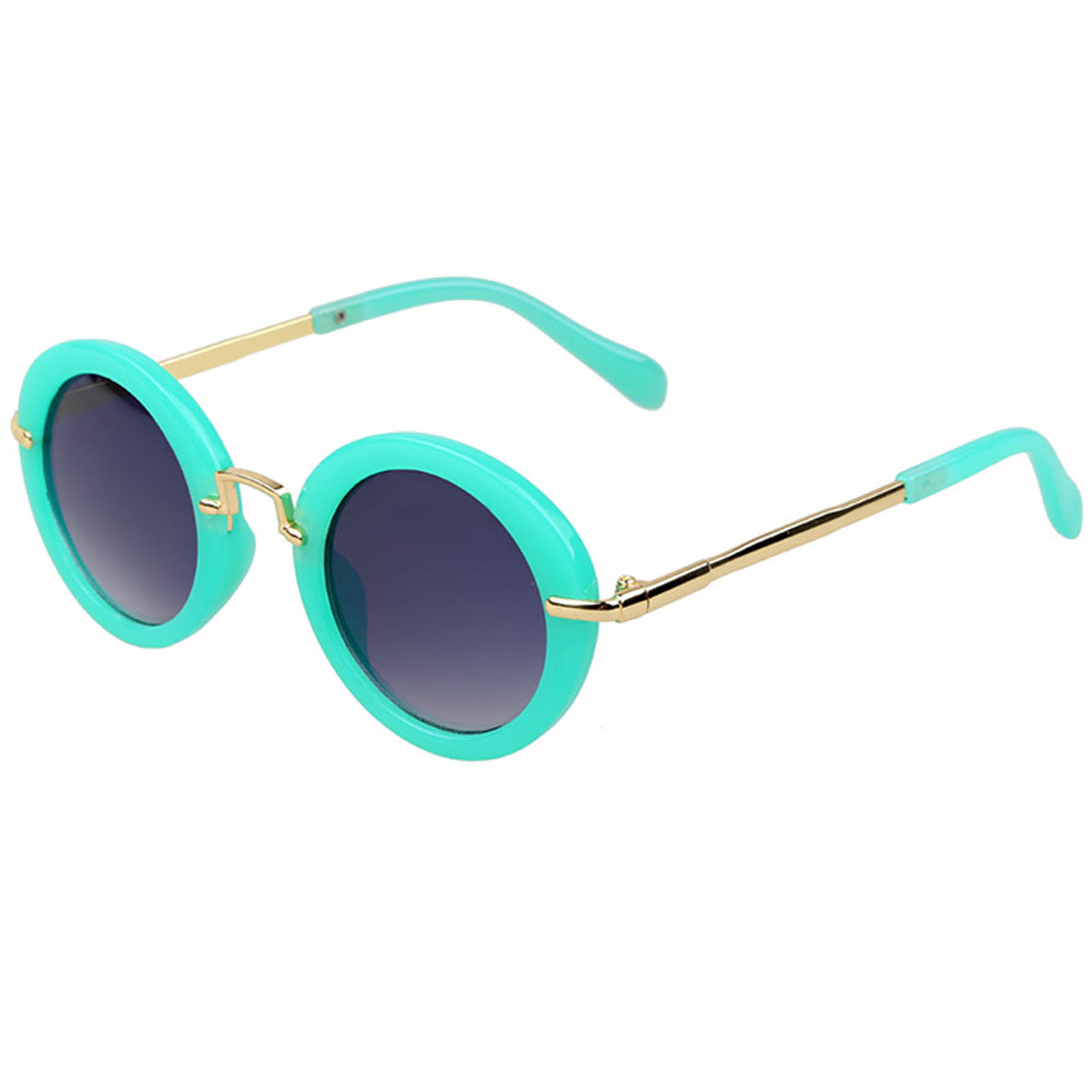 OWL ® 045 C2 Round Eyewear Sunglasses Women\'s Men\'s Metal Round ...