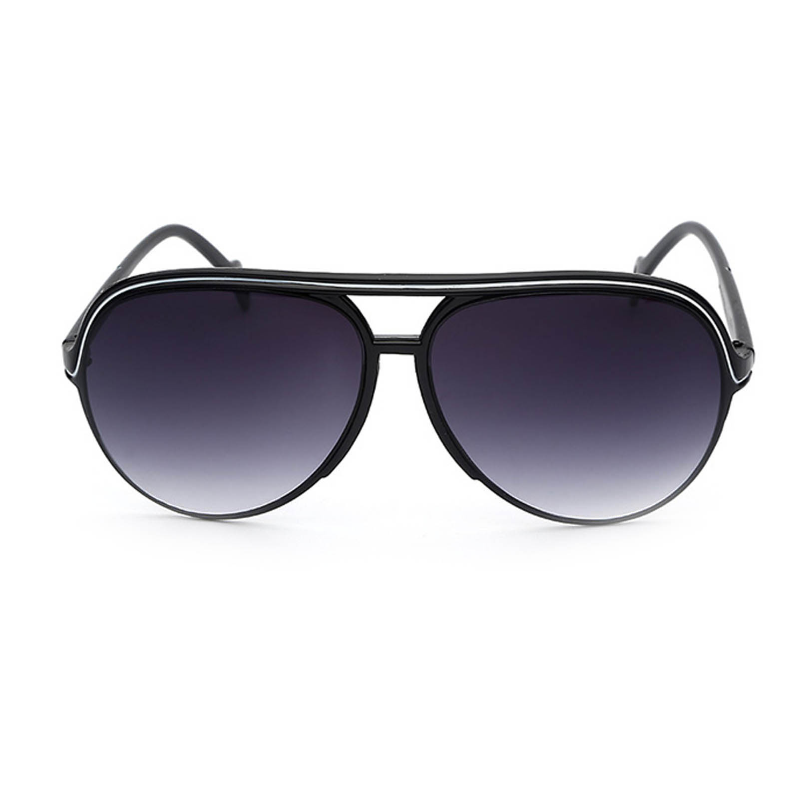 31a5b7da26b ... OWL ® 047 C1 Aviator Eyewear Sunglasses Women s Men s Plastic Black Frame  Smoke Lens One Pair