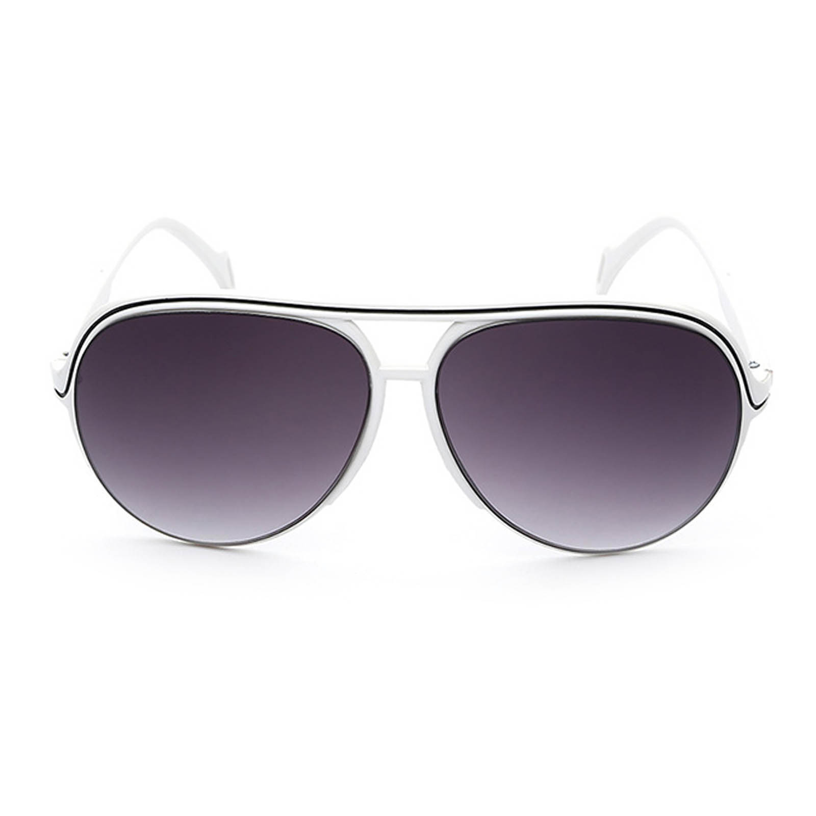 84862240b62 ... OWL ® 047 C2 Aviator Eyewear Sunglasses Women s Men s Plastic White  Frame Smoke Lens One Pair