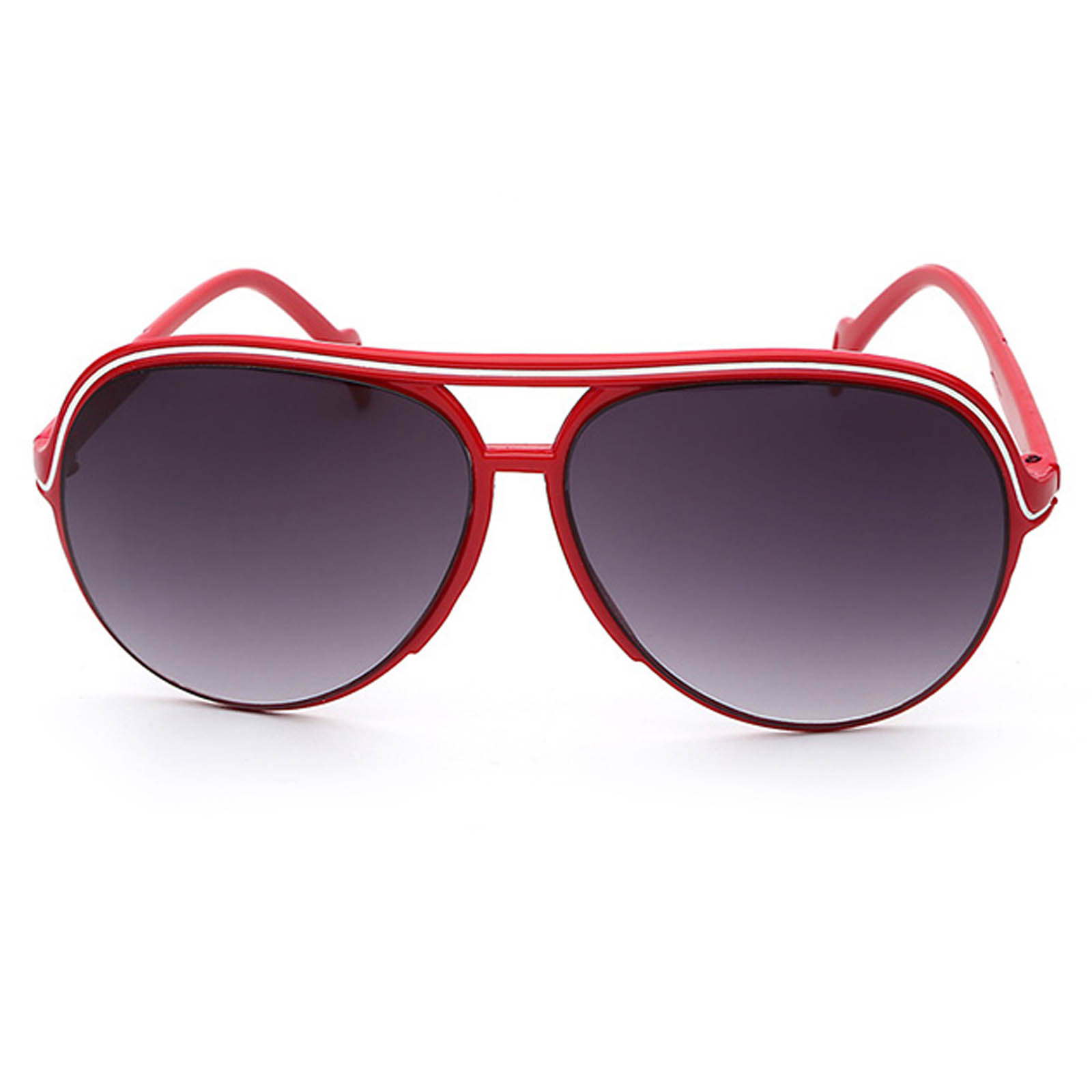 753aa59adac ... OWL ® 047 C3 Aviator Eyewear Sunglasses Women s Men s Plastic Red Frame  Smoke Lens One Pair ...