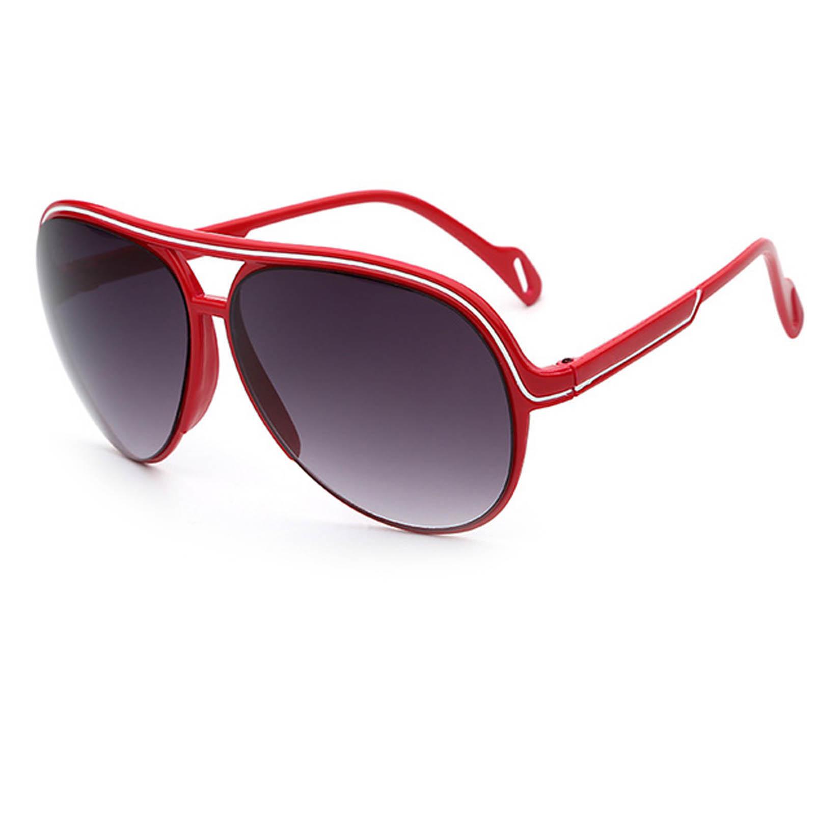 ce6c365183c OWL ® 047 C3 Aviator Eyewear Sunglasses Women s Men s Plastic Red Frame  Smoke Lens One Pair