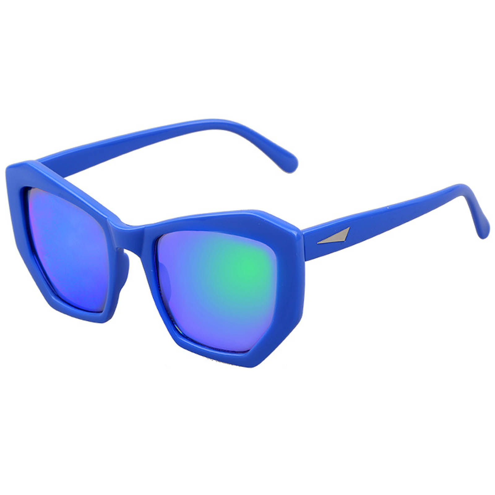de90bdfc3b OWL ® 059 C3 Cat Pentagon Eyewear Sunglasses Women s Men s Plastic Blue  Frame Blue Lens One