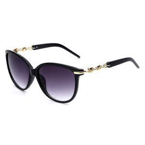 a4a09bd6e73 OWL ® 052 C1 Cat Eyewear Sunglasses Women s Men s Plastic Black Frame Smoke  Lens One Pair