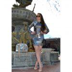 OWL ® Eyewear Sunglasses 86009 C2 Women's Metal Fashion Gold Frame Brown Mirror Lens One Pair