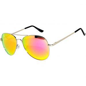 11821f1512 OWL ® Eyewear Sunglasses 065 C2 Women s Men s Aviator Metal Frame  Pink Yellow Mirror Lens One Pair