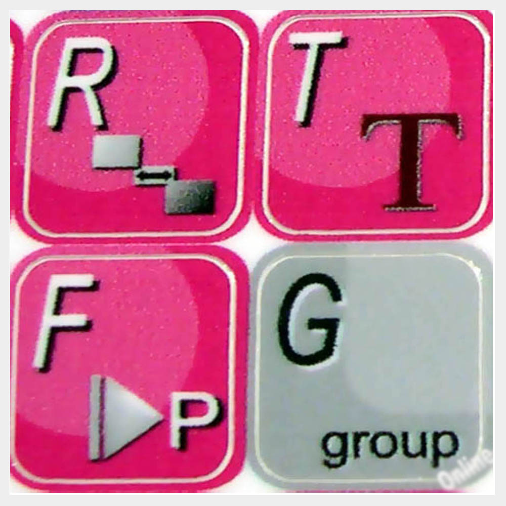 Video Keyboard Labels