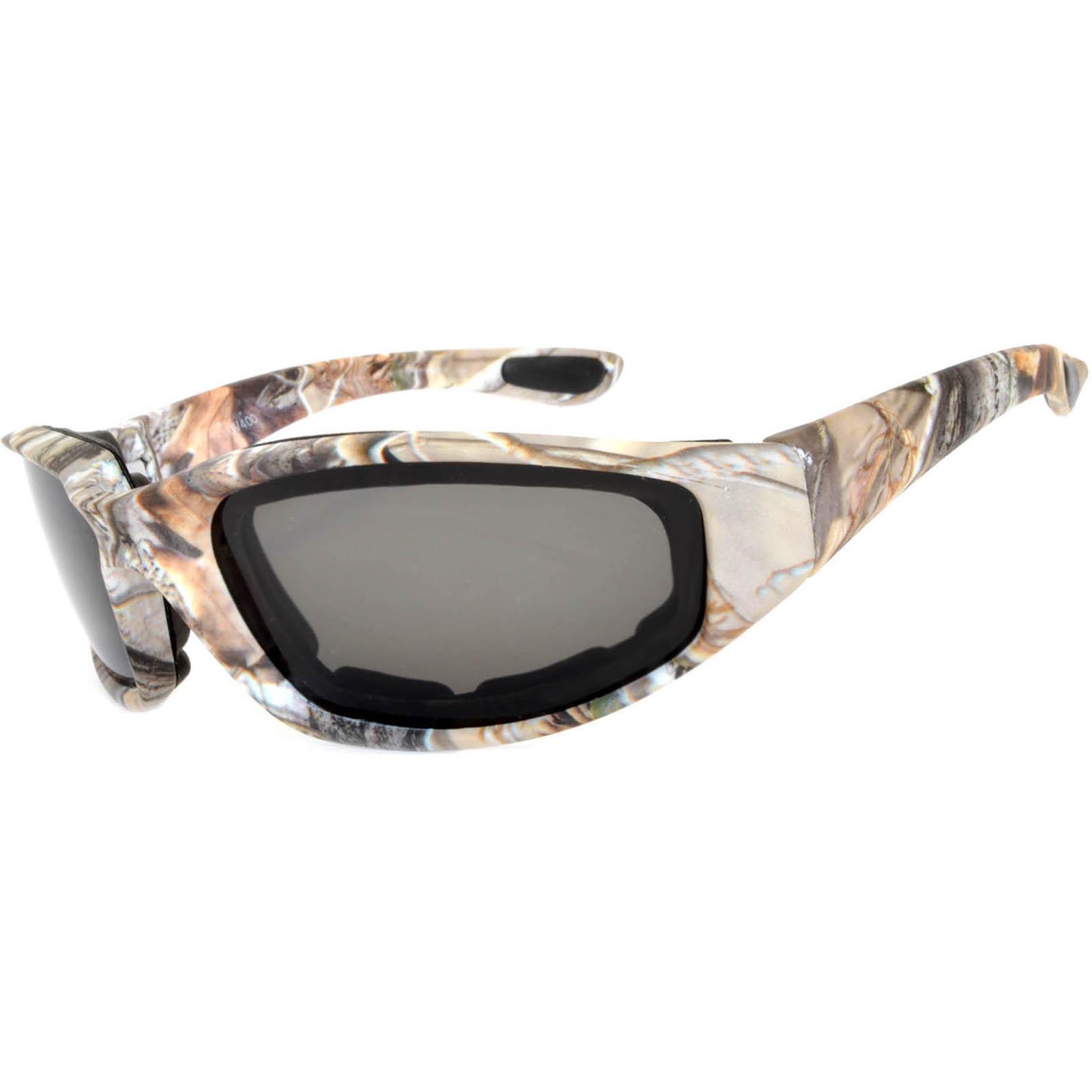 OWL Eyewear Motorcycle Padded Glasses Camo#2 Frame Smoke Lens (One ...