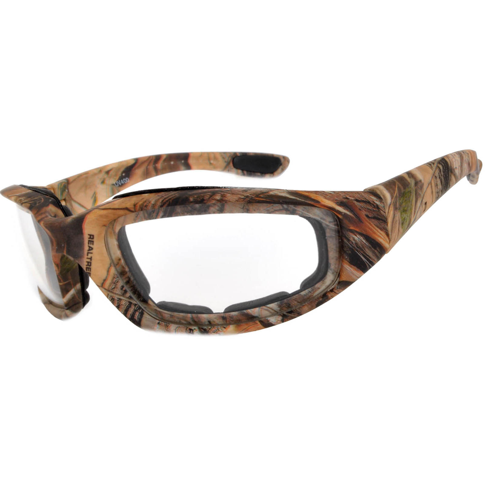 OWL Eyewear Motorcycle Padded Glasses Camo#3 Frame Clear Lens (One ...