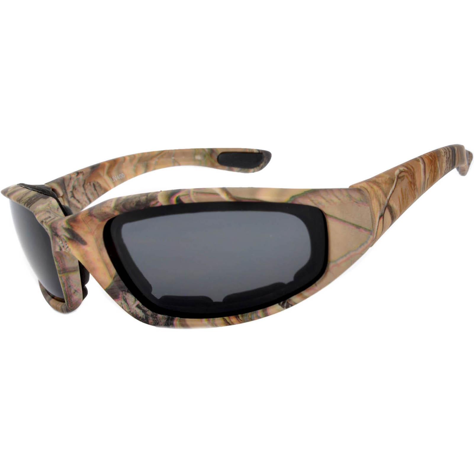 OWL Eyewear Motorcycle Padded Glasses Camo#3 Frame Smoke Lens (One ...