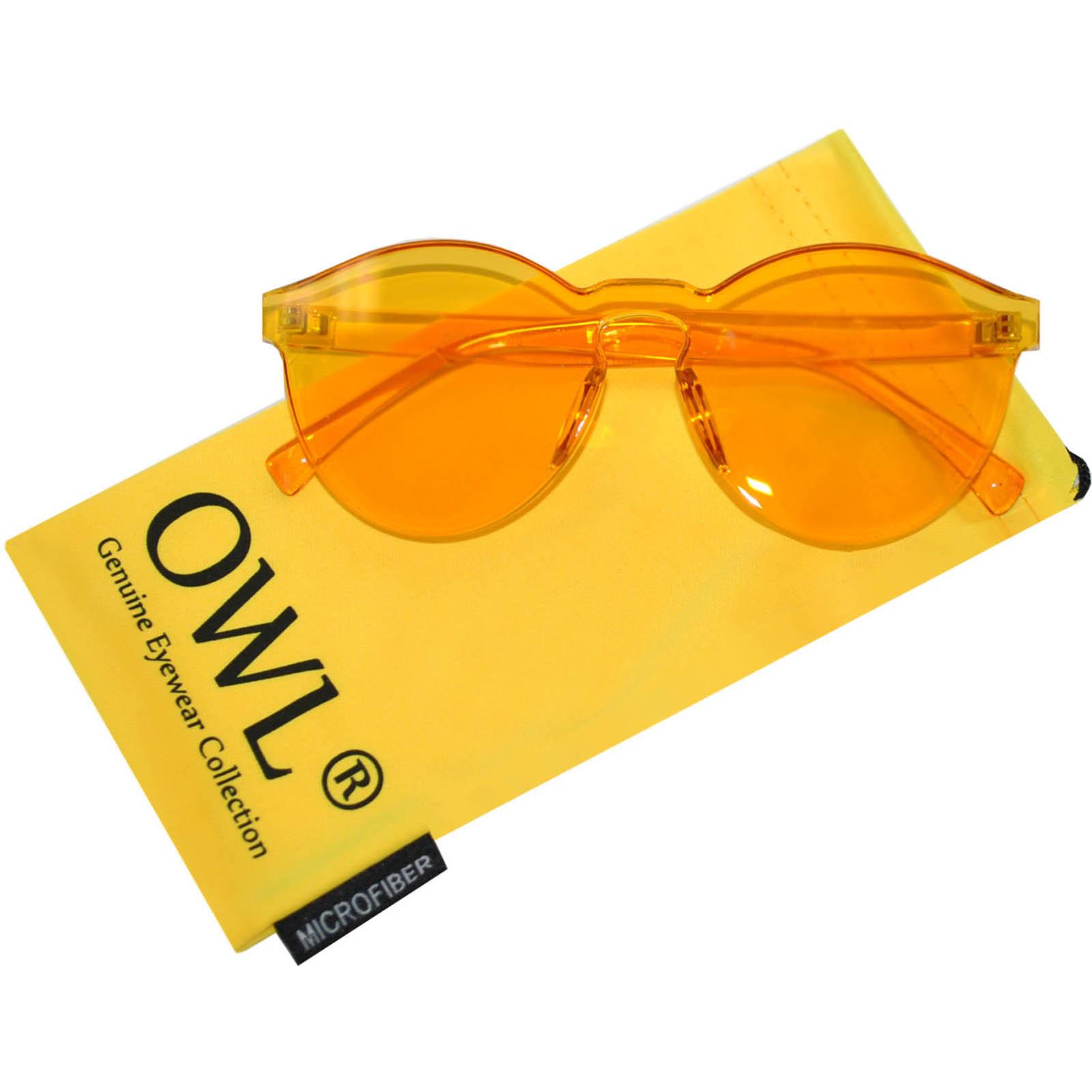 Yellow transparent one peace lens sunglasses
