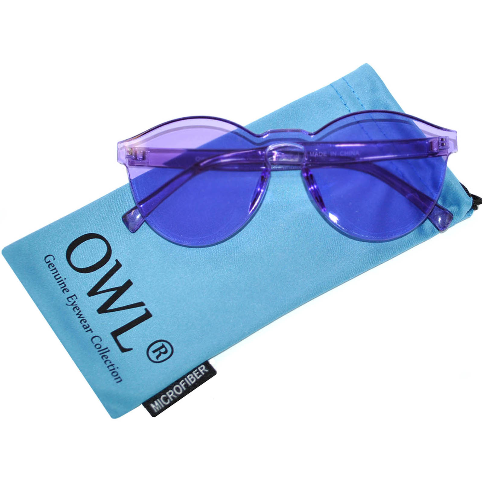 ea935f9b2b22 OWL ® Colorful Transparent Round Retro Women s Fashion Designer ...