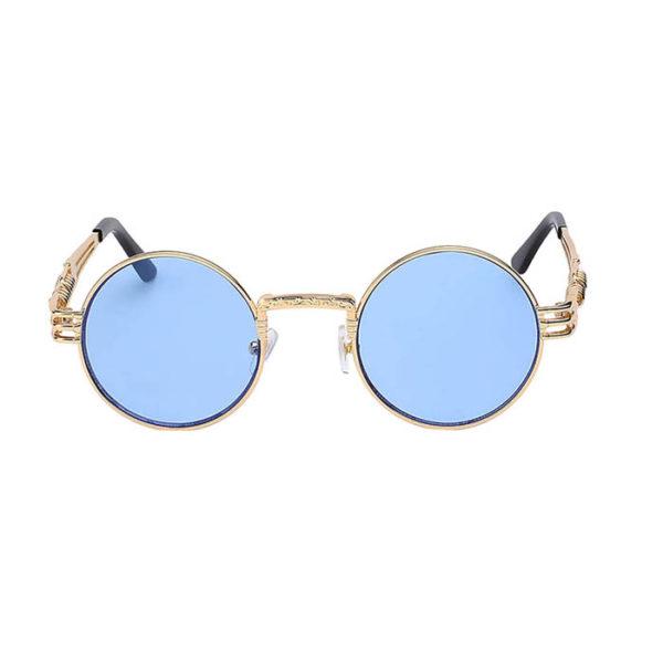 e11422dc123 gothic sunglasses steampunk sunglasses gold blue lens