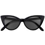 plastic cat eye black frame sunglasses