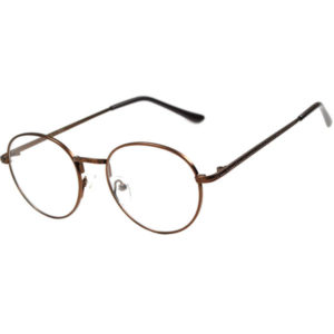 Bronze Round Circle glasses clear lens john lennon eyeglasses