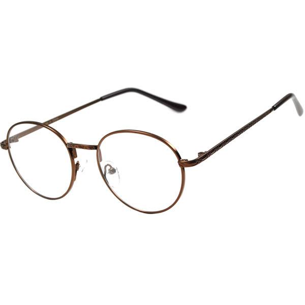 Bronze Round Circle glasses clear lens john lennon eyeglasses