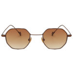 octagon shades sunglasses,bronze-copper brown lens