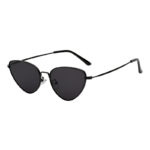 3007 black Metal Cat Eye Sunglasses Colored smoke dark Lens UV400 One Pair