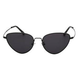 3007 black Metal Cat Eye Sunglasses Colored smoke dark Lens