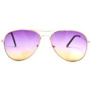 12 Pack Wholesale Aviator Sunglasses 2 Tone Purple Yellow Lens Gold Metal Frame