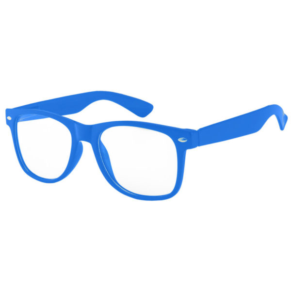 12 Pieces Wholesale High Quality Kids Clear Lens Sunglasses Blue