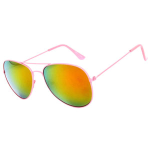pink frame sunglasses mirror lens aviators